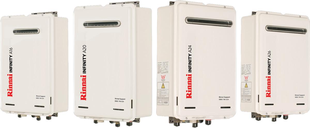 A-Series Rinnai gas hot water heaters